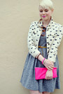 Heather-gray-madewell-dress-ivory-forever21-jacket-bubble-gum-bag