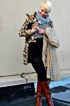 dark khaki leopard print pink cardigan - tawny etienne aigner boots
