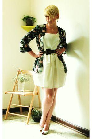 black Jo-Yana top - white Forever21 dress - brown American Apparel sunglasses -