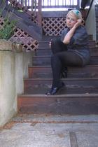 H&M accessories - Agnes B shirt - Old Navy tights - Salvatore Ferragamo shoes -