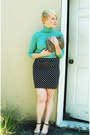 Aquamarine-thrifted-united-colors-of-benetton-sweater-black-forever21-skirt