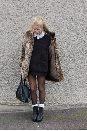 jacket - bag - heels