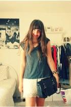 H&M skirt - New Yorker shirt - Primark bag - new look necklace - H&M bracelet