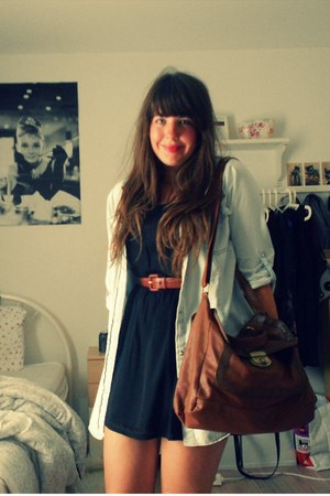 Primark dress - Primark shirt - Primark bag - vintage belt