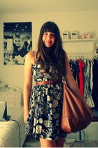 Primark dress - H&M bag - Secondhand belt