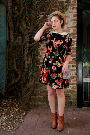 retro print Dandy Boutique dress