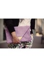 Light-purple-floral-print-zara-pants-black-silk-bomber-forever-21-jacket