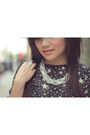 Silver-tj-designs-necklace-black-star-print-asos-dress
