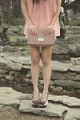 Coral-h-m-bag-white-de-constructed-thrifted-shorts-white-zara-heels-ivory-