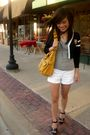 Black-forever-21-cardigan-gray-h-m-top-white-forever-21-shorts-yellow-fore