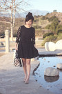 Black-spotted-h-m-dress-neutral-lotze-polka-dot-aldo-purse