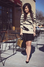 Nude-tiger-print-forever-21-sweater-black-zara-purse