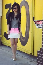 teal Urban Outfitters bracelet - black mesh Zara jacket