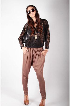 light brown rayon pants