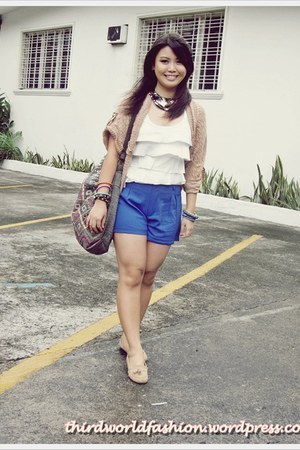 Accessorize bag - divisoria shorts - papaya cardigan - Forever 21 top