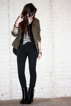 green army H&M jacket - wedge alice  olivia for Payless boots