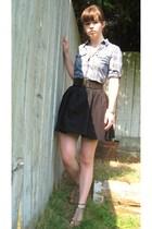 H&M skirt - H&M belt - Target shoes - kohls shirt