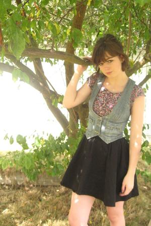 H&M shirt - H&M skirt - JC Penny vest