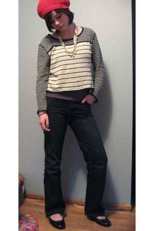 Kimchi&Blue hat - BDG sweater - Gap jeans - American Eagle shoes - Forever 21 ne