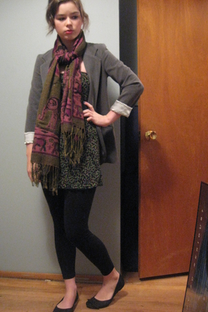 Necessary Objects blazer - Craft Fair scarf - top - BP leggings - Rocket Dog sho