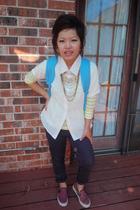 H&M shirt - Forever21 necklace - Forever21 necklace - Forever21 jeans - Vans sho