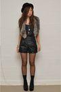 Brown-sportsgirl-scarf-black-dotti-top-black-stellino-shorts-black-target-