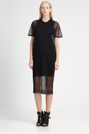 black mesh Alexander Wang dress