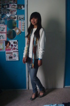 Rampage sweater - thrifted scarf - Bullhead jeans - payless shoes