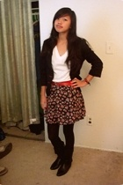 forever 21 blazer - Hanes t-shirt - Nine West belt - Judy Knapp skirt - Target t