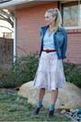 Gray-op-t-shirt-blue-gap-jacket-brown-thrifted-nordstrom-belt-pink-charlot