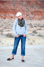Green-h-m-coat-blue-old-navy-jeans-brown-mudd-shoes-beige-gap-hat-gree