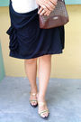 White-dress-brown-esprit-purse-gold-bonita-shoes