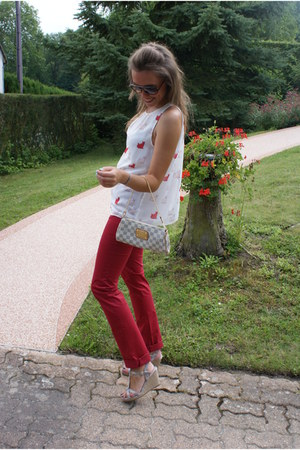 Zara Trf blouse - Louis Vuitton bag - Ray Ban sunglasses - Hermes bracelet