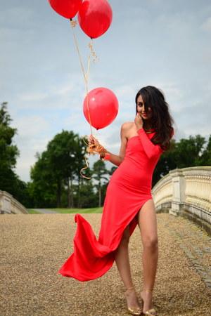 one shoulder asos dress - heels Zara heels