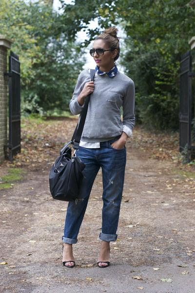 batman collar celebrity outfitter shirt - crop True Religion jeans