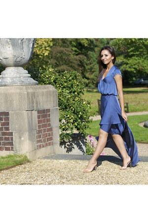 assymetric H&M dress - block colour Tibi heels