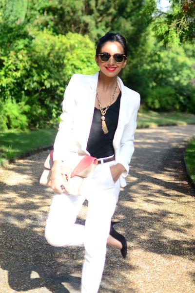 tailored white suit suit