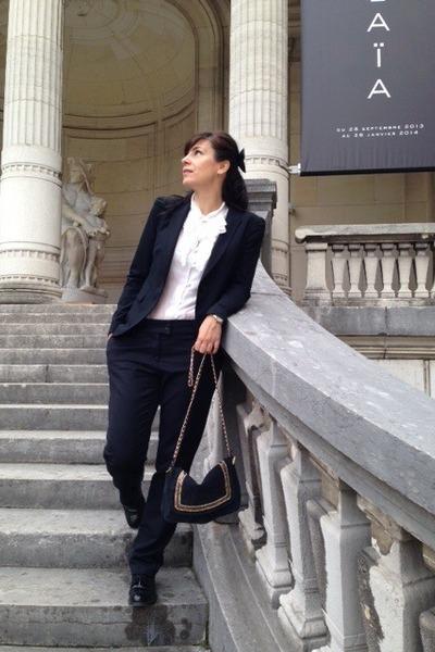 Zara blazer - Mango bag - Forever 21 blouse