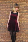 Crimson-forever-21-dress-black-unknown-tights-gray-dsw-heels