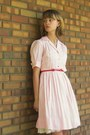 Light-pink-vintage-dress-bronze-blake-scott-flats