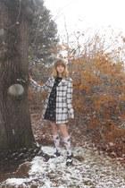 ivory plaid hand me down coat - black Forever 21 dress