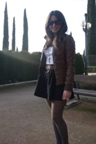 BLANCO accessories - BSK jacket - Str skirt - H&M t-shirt - Calzedonia accessori