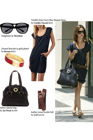 dark Vintage Moschino sunglasses - navy blue Cynthia Vincent dress
