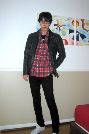 pull&bear jacket - Secondhand shirt - april 77 pants - Keds shoes