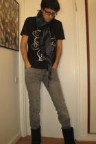 Cheap Monday jeans - Zara t-shirt - vintage scarf - Ugg Australia boots