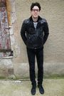 Black-palladium-shoes-black-cheap-monday-jeans-gray-vintage-jacket-white-h