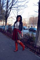 Zara boots - H&M hat - asos jacket - vintage skirt