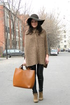 Zara cape - Stradivarius hat - Zara bag - asos ring
