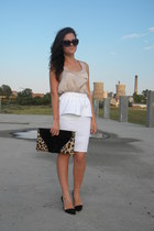 made by me skirt - Zara shoes - Lashez top