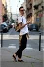 Black-zara-jeans-ivory-vintage-shirt-bronze-benzol-bag-bag